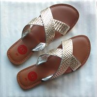 Gold & Silver Criss Cross Slides (sold out)