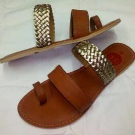 Gold & Tan Slides